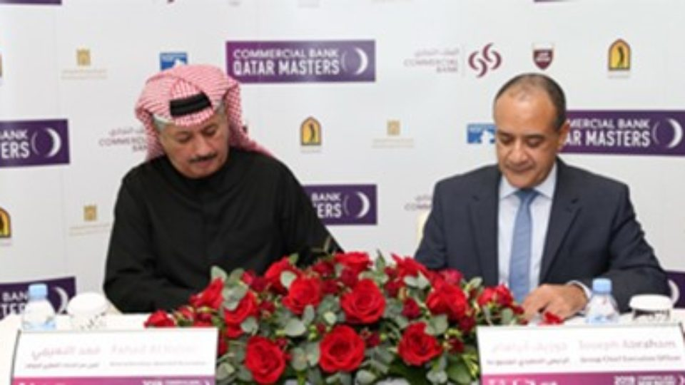 Commercial Bank to sponsor Commercial Bank Qatar Masters for 14th year