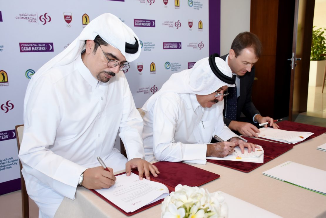 QGA and Commercial Bank signs three years sponsorship agreement to host the Commercial Bank Qatar Masters